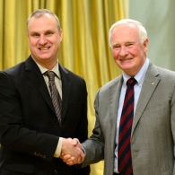 UBC Chemistry Alumni, Dr. Michael Kovacs, winner of NSERC Brockhouse Prize For CycloMed99